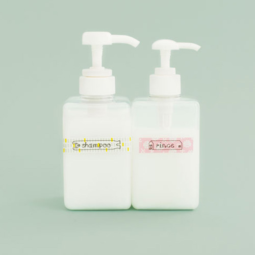 Using Scene of Coharu tape: bath bottles