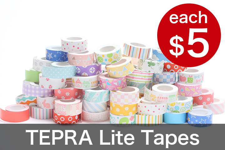 TEPRA Lite Tapes: each $5